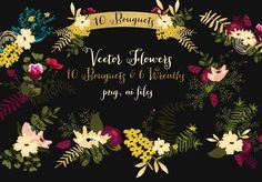 Vector-Bouquets-and-Wreaths