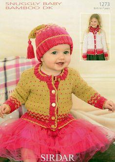 Cardigan a Hat Sirdar příjemná dítě Bamboo DK - 1273 - Všechny vzory - vzory