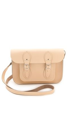 Cambridge satchel in nude.