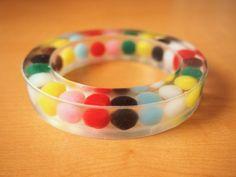 pompom resin bangle | what i do