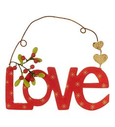 GISELA GRAHAM Love hanging decoration 13cm
