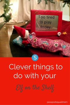 Struggling to find some clever ways to stage your elf on the shelf? Try these fun ideas: simplemost.com/clever-elf-on-the-shelf-ideas?utm_campaign=social-account&utm_source=pinterest&utm_medium=organic&utm_content=pin-description