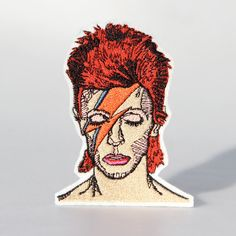 David Bowie Iron On Patch by mimosch on Etsy