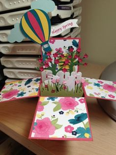 Spring Card in a Box by catbear99 - Cards and Paper Crafts at Splitcoaststampers