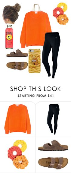 """Untitled #73"" by faithjones1223 ❤ liked on Polyvore featuring Allude, NIKE, NamJosh, Birkenstock and Hollister Co."