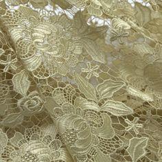 Tecido guipir dourado - Maximus Tecidos | Loja Online