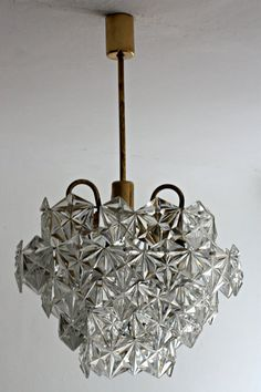 Vintage Czech Crystal Chandelier Was Made In 1960s For 4 Light E27