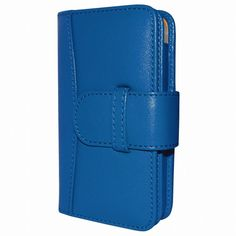 Piel Frama 600 Blue Leather Wallet for Apple iPhone 5 / 5S