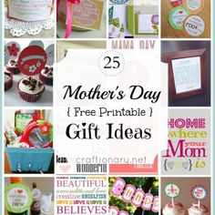 25 mothers day free printable gift ideas