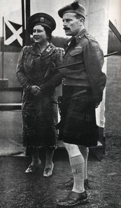 Her Majesty Queen Elizabeth with Brigadier James Oliver, Black Watch