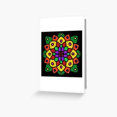 """Flower of Life Mandala"" Greeting Card by Pultzar | Redbubble"