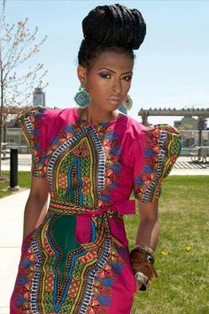 Amazing latest african fashion look African Print Clothing, African Print Dresses, African Wear, African Attire, African Women, African Dress, African Prints, African Style, African Shop