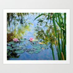 Impressionist Water Lilies Art Print by LovesParisStudio - $20.00