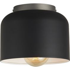Free Shipping. Shop bell black flush mount lamp. Oversized bell beams modern in a sculptural two-tone design by Donna Piacenza.