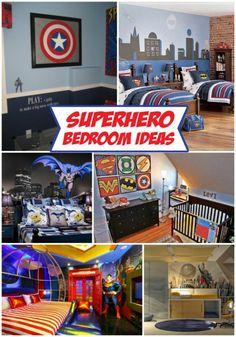 A collection of Superhero bedroom ideas by Design Dazzle. I like the framed superhero signs for Exavier Boys Room Decor, Kids Decor, Boy Room, Decor Ideas, Decor Diy, Big Boy Bedrooms, Kids Bedroom, Boys Superhero Bedroom, Superhero Room Decor