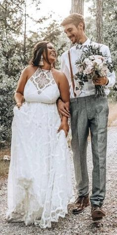 33 Plus-Size Wedding Dresses: A Jaw-Dropping Guide ❤ plus size wedding dresses a lin boho halter neckline lace grace loves lace ❤ See more: www. wedding dress plus size 36 Plus-Size Wedding Dresses: A Wow Guide Boho Wedding Dress With Sleeves, Plus Size Wedding Gowns, Lace Wedding, Dream Wedding, Plus Size Elopement Dress, Skinny Wedding Dress, Full Figure Wedding Dress, Summer Wedding, Modest Wedding