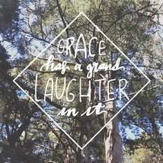 """265:: """"Grace has a grand laughter in it"""" // a favorite highlight from Gilead by Marilynne Robinson. #emletters #lettereveryday"""