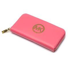 Michael Kors Logo Large Pink Wallets