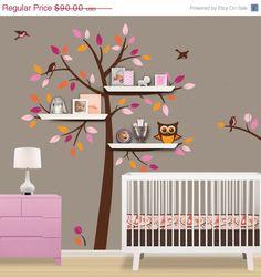 SALE  10 OFF Shelf Tree Decal  Children Wall Decal  by Lulukuku, $81.00