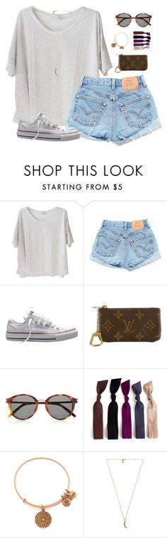 """""""casual"""" by classically-preppy ❤ liked on Polyvore featuring Clu, Converse, Louis Vuitton, Yves Saint Laurent, Alex and Ani and Rebecca Minkoff"""