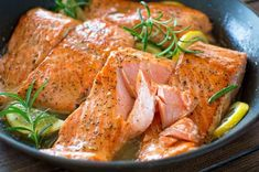 Lemon Rosemary Salmon Recipes Flaky salmon cooked to perfection in rich and lip-smacking-good Lemon Rosemary sauce. Ready in 20 minutes! Top Recipes, Salmon Recipes, Fish Recipes, Seafood Recipes, Dinner Recipes, Cooking Recipes, Healthy Recipes, Lunch Recipes, Salmon Dishes