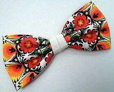 Ohnivý kvet motýlik / Handmade bowtie
