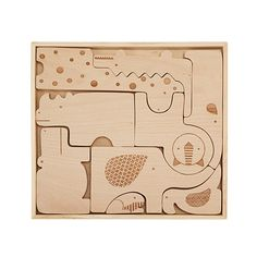 Look what I found at UncommonGoods: safari puzzle blocks... for $36 #uncommongoods