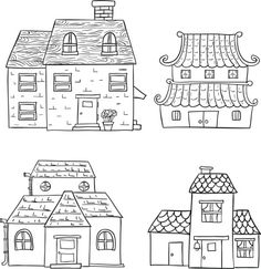 House collection in black and white