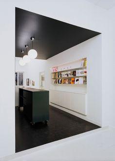 speciel effects, sort loft, sort gulv, colorama, indretning, interiør, home decor, interior, boligstyling, maling, tapet, gulv,