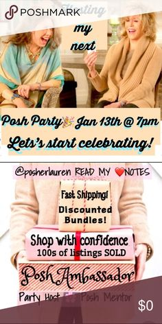 YOUR Closet. Posh Party. It's a date. Show Me What You Got, Girls (& guys)! My next party is next Saturday 1/13/18 @ 7pm. Tag me on ONE fantastic, unusual statement piece from your closet and I'll have a look. I can't use everything you send me because I need to submit a true variety of categories (and sizes) to the party). I promise I will look at all of the items I am tagged in before going to the closets of the general Posh public. This is going to be a fresh party for the New Year…