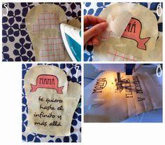 Tuto and free pattern: Oven gloves for mum.  Manoplas de horno para Mamá: Tutorial + Patrón