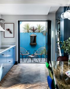 An Eclectic Blue House in London - The Nordroom Natural Stone Cladding, Victorian Frame, London Townhouse, Wood Cladding, Corner House, Outdoor Retreat, Urban Setting, Outdoor Areas, Small Gardens