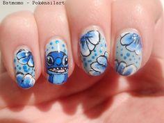 disney manicure - lilo and stitch nail art