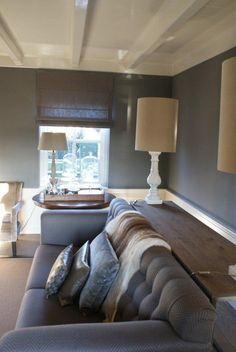 Love the shelf behind the couch!