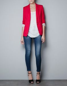 blazer and skinny jeans. the one look i'd wear for the rest of my life if i had to choose!