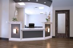 The care and comfort of patients should be a priority in the design of a medical office. Medical Office Decor, Dental Office Design, Office Interior Design, Office Interiors, Medical Design, Office Designs, Doctors Office Decor, Office Humor, Design Interiors