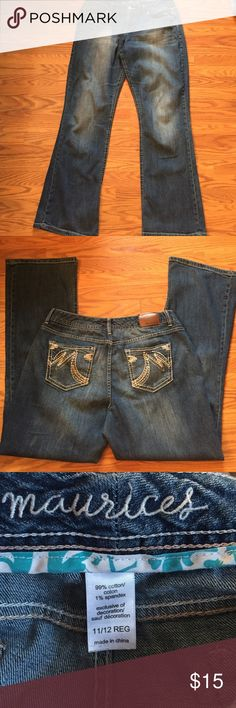 "Maurices jeans Maurices bootcut jeans, inseam 31"" sz 11/12 Maurices Jeans Boot Cut"