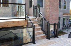 Glass Aluminum Railing and ornamental aluminum railing