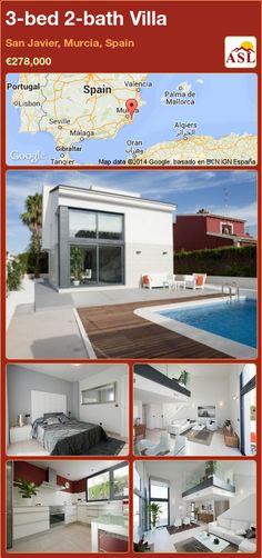 3-bed 2-bath Villa in San Javier, Murcia, Spain ►€278,000 #PropertyForSaleInSpain