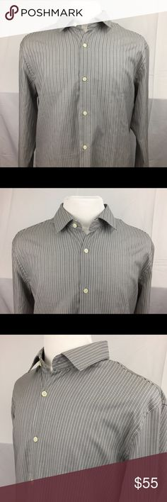 Banana Republic Supima Cotton 120s XL Shirt Banana Republic Grant-Fit Supima Cotton 120s Shirt XL.  Grown in the American Southwest, Supima® is superior cotton known for its lustrous feel and sturdy wear that resists pilling and shrinkage. 120s means it's two-ply and extra-fine. In other words, one of the most luxurious dress-shirt fabrics around.   Color: Black, White & Grey   FIT & SIZING · Please see pics for sizing guide   FABRIC & CARE · 100% cotton. · Machine wash. · Imported. PRODUCT…