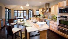 Open-Concept Contemporary Kitchen, Interior Design.  Designer: Kristin Okeley, ASID, CKD, Kitchens By Design www.mykbdhome.com