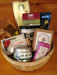 """Created by All Things Virginia at The Farmhouse, send these """"All Things Virginia"""" baskets to friends and family who love Virginia, miss Virginia, or want to get to know Virginia!  All Things Virginia is located in small-town Woodstock, Virginia, and specializes in Virginia-made treats, wine, craft beer and gifts.  Small basket $59, large basket $79, including a 2016 Go Virginia Pass AND shipping!"""