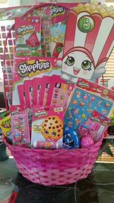 Shopkins gift basket diy pinterest shopkins gift and basket shopkins bingo easter baskets negle Choice Image