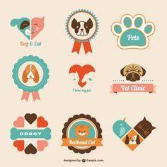 Retro veterinária logos clínica                                                                                                                                                                                 Mais