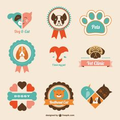 Logos de clínica veterinaria | Descargar Vectores gratis