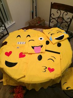 Emoji shirts Halloween costumes