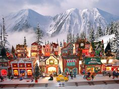 Christmas Village sites,Christmas, Dept Lemax, Christmas village, I love the background/ Christmas In The City, Christmas Town, Christmas Scenes, Christmas Villages, Merry Little Christmas, Christmas Art, Beautiful Christmas, Christmas Holidays, Christmas Goodies