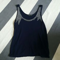 Forever 21 small navy tank top Size small Few loose threads Forever 21 Tops Tank Tops