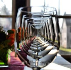 wine glasses. through the looking glass..