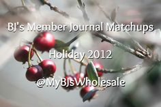 BJ's Member Journal Coupon Matchups - Holiday 2012